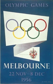 Melbourne 1956 Olympic Poster