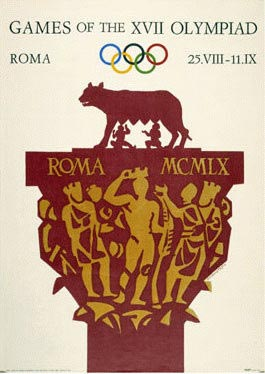 Rome 1960 Olympic Poster