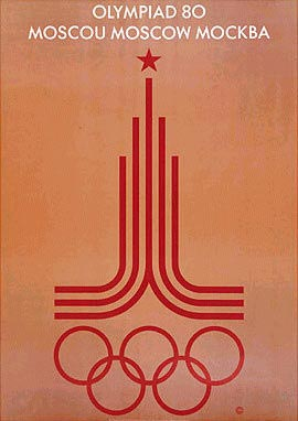 Moscow 1980 Olympic Poster